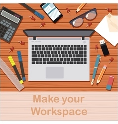 Make your workspace banner3 vector image