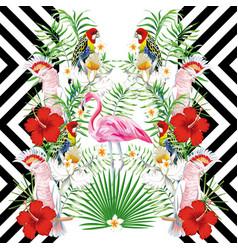 Mirror bird design geometric vector