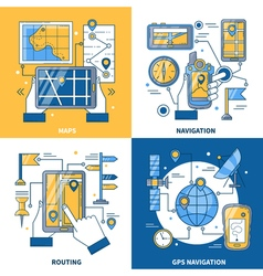 Navigation 2x2 Design Concept vector