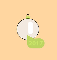 New 2017 year christmas ball vector