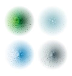 Paint spray effectGreen aqua ice blue silver vector image