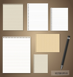 Pen and Vintage paper designs ready for your text vector image vector image