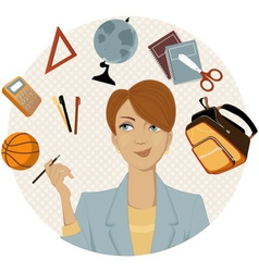 Planning a back to school shopping vector image