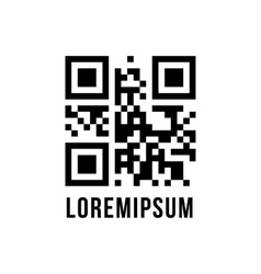 qr code with encrypted text lorem ipsum vector image