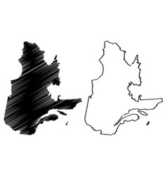 Quebec canada map vector