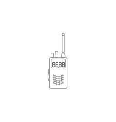 Radio transmitter flat icon vector