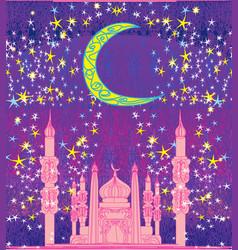 Ramadan background - mosque card vector
