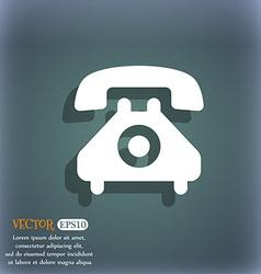 retro telephone handset icon symbol on the vector image