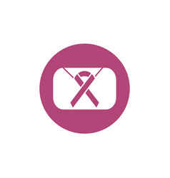 ribbon campaign breast cancer awareness vector image