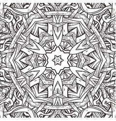Seamless pattern in mandala style vector