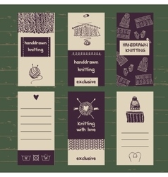 Set of labels for knitwear and wool vector image