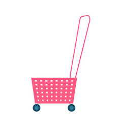 shopping basket and handle vector image
