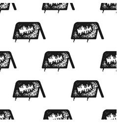 tent seamless pattern in silhouette retro style vector image
