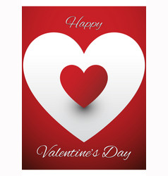 valentines greeting card design vector image