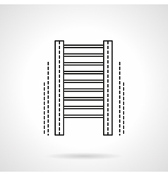 Wall bars gym flat line icon vector image