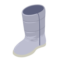 winter boot icon isometric style vector image