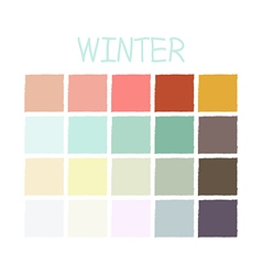 Winter Color Tone without Code vector image