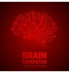 Brain work 1 vector image vector image