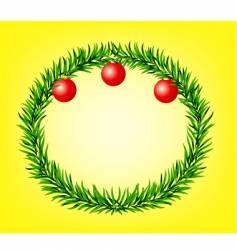christmas spheres vector image