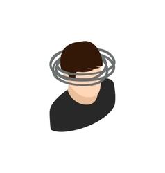Dizzy head icon isometric 3d style vector image