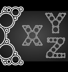Font design made of circles in the letters vector image