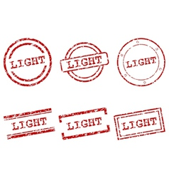 Light stamps vector image vector image
