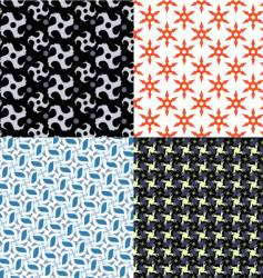 shuriken patterns vector image vector image