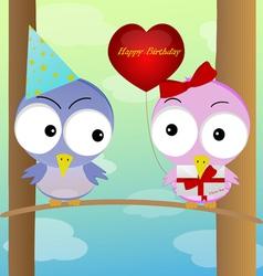 celebration of birds vector image vector image