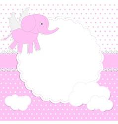 Cute baby girl card vector image