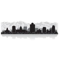 Salt Lake city USA skyline silhouette vector image