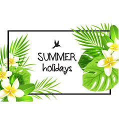 tropical green frame vector image vector image