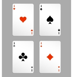 ace playing cards vector image vector image