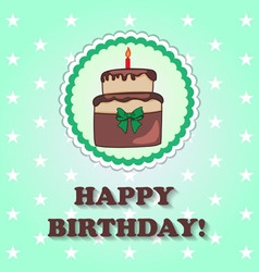 Birthday design over green background vector image vector image