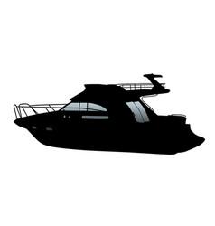cruising motor yacht vector image