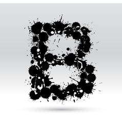 Letter B formed by inkblots vector image vector image
