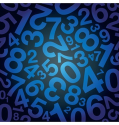 number background vector image vector image