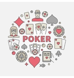 Poker round colorful vector image