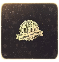 retro christmas background golden vector image vector image