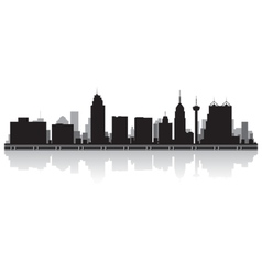 San Antonio USA city skyline silhouette vector image vector image