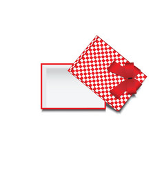 top view of empty gift box vector image