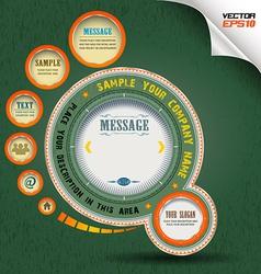 Clock circle vector image