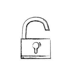 figure padlock object symbol to security vector image vector image