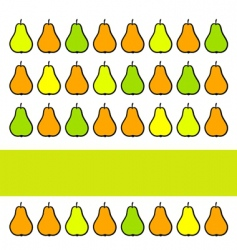 fruit pear vector image