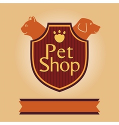logo for a pet store in heraldic style Accessories vector image