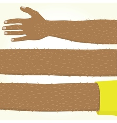 Long afro american hand isolated vector image vector image