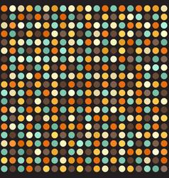 polka dot pattern seamless circle retro vector image vector image