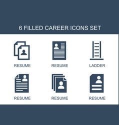 6 career icons vector