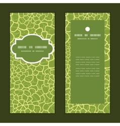 Abstract green natural texture vertical vector