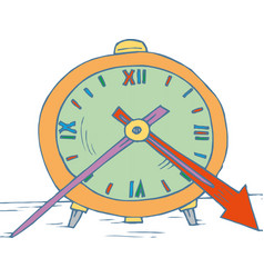 Alarm clock wake-up time isolated on white vector