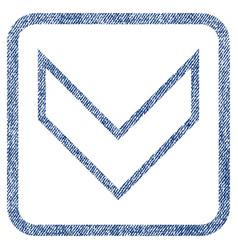 Arrowhead down fabric textured icon vector